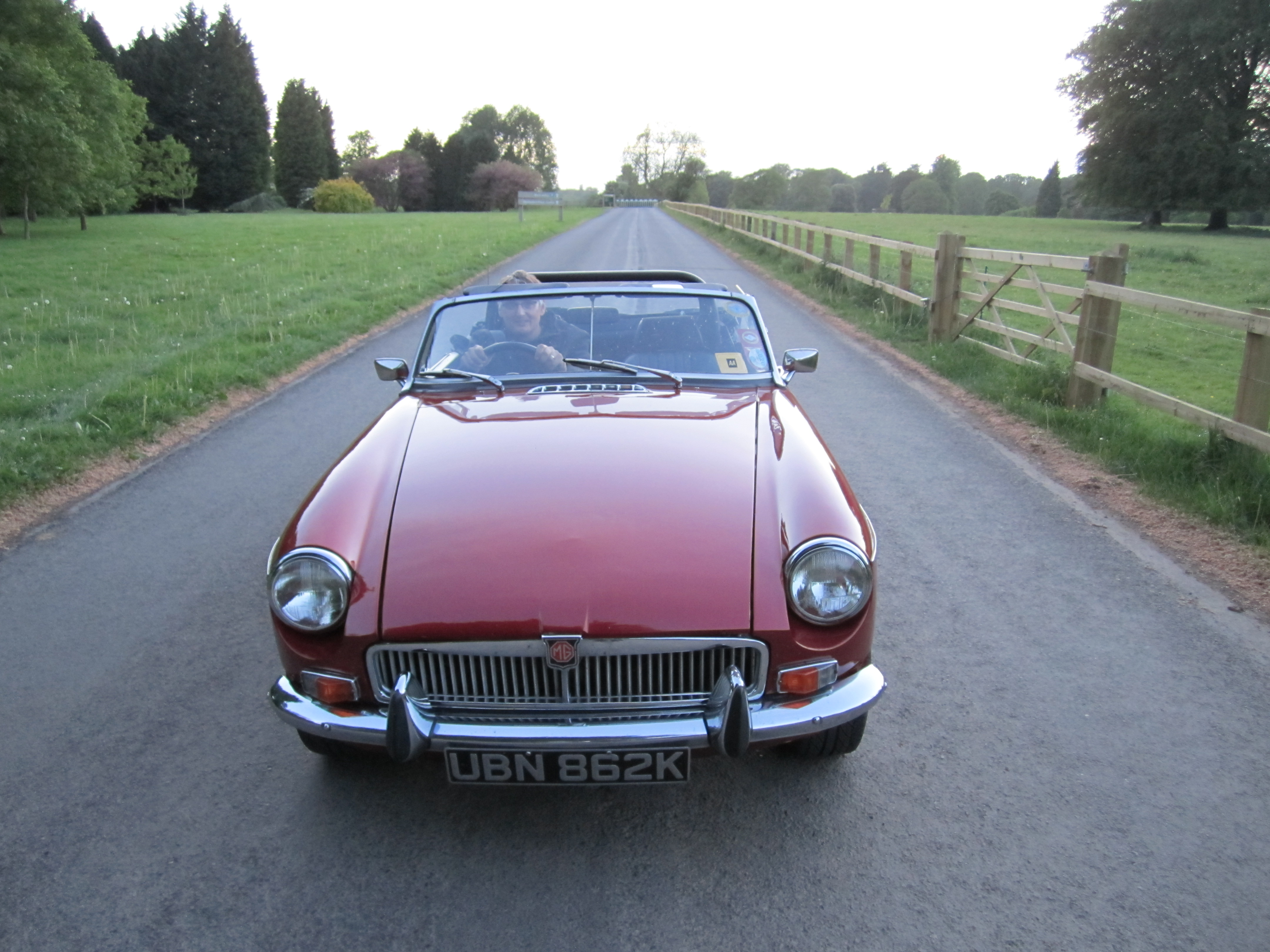 MGB V8 on the straight and narrow