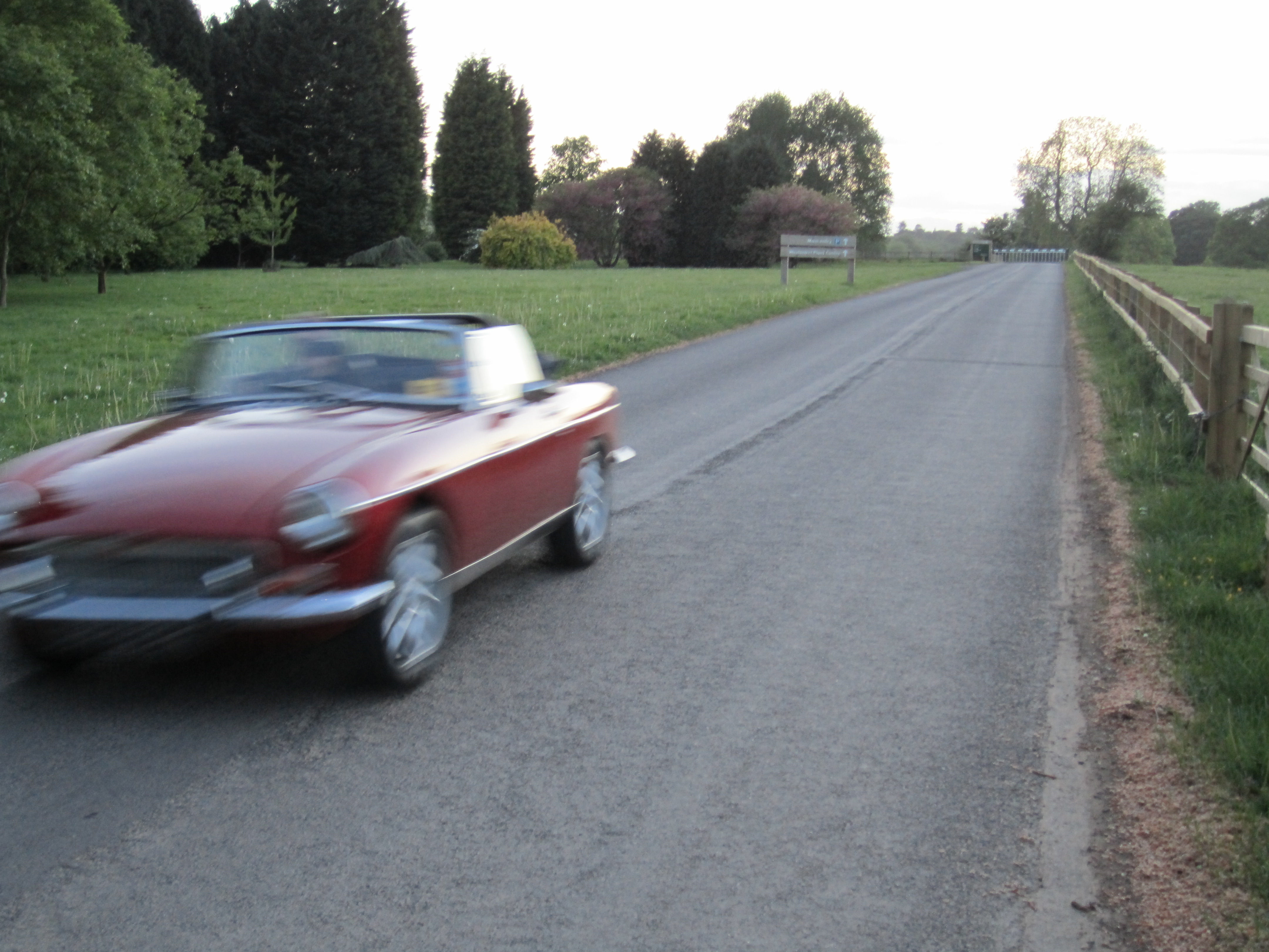 MGB V8 on the move
