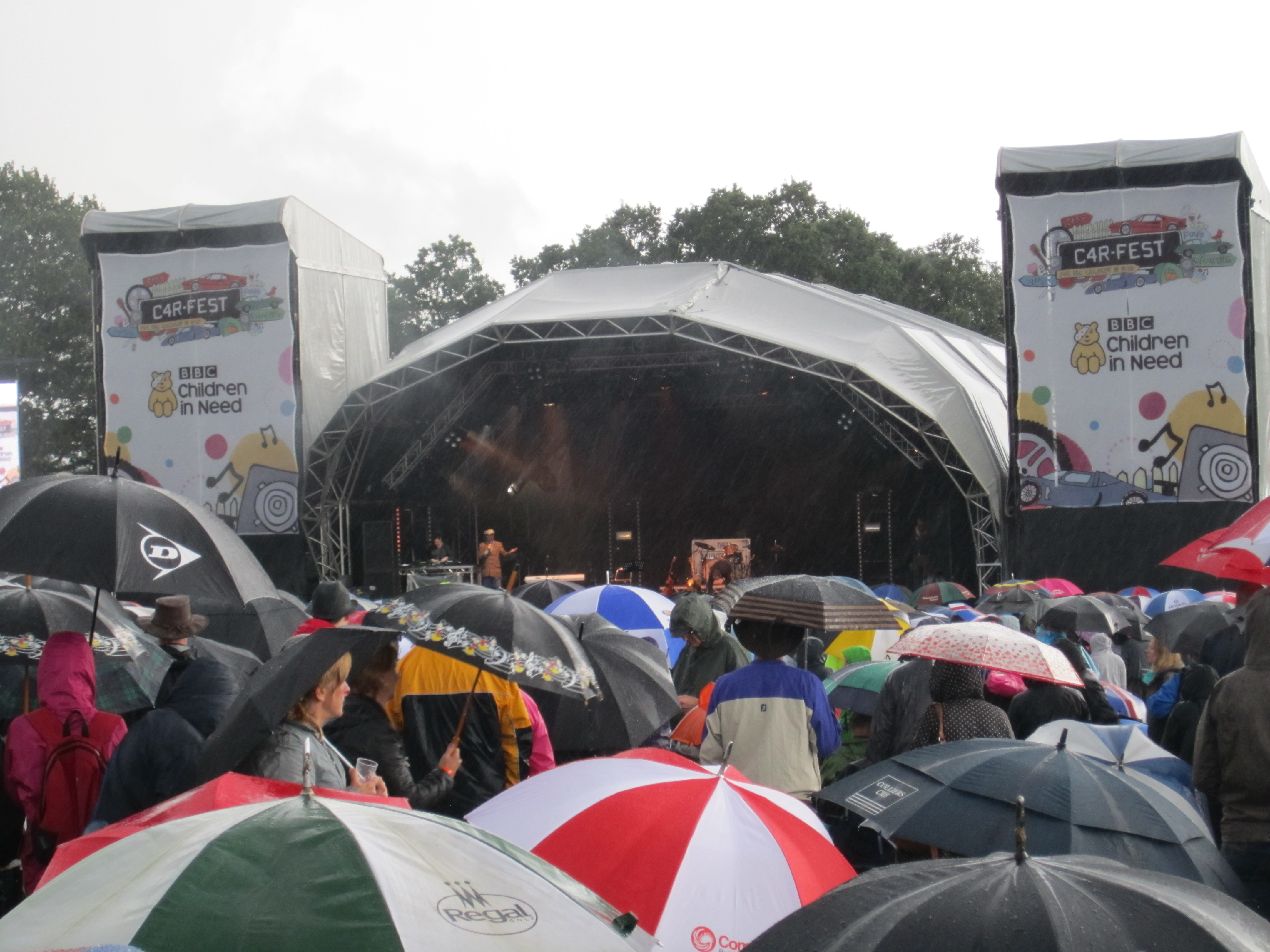 Thousands brave the last of the rain at CarFest 2012