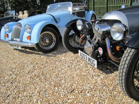 Everyone welcome at a Morgan family gathering, even those with just 3 wheels