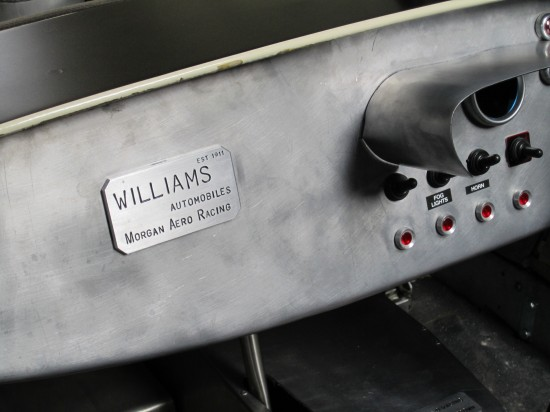 Finishing touch to the Williams Morgan Racing 4/4 Racecar