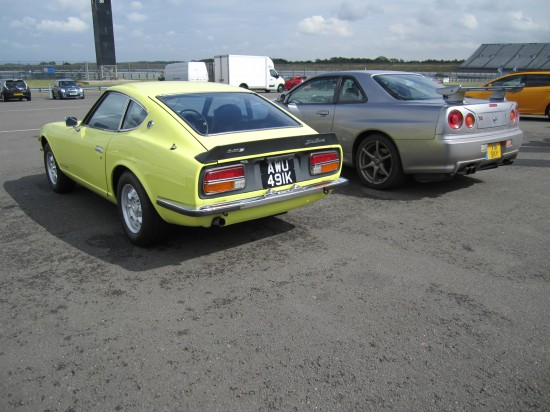 Nissan brought along a 240Z and Skyline R34