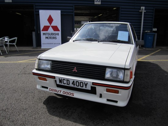 Lancer 2000 Turbo (Note: Reversed lettering on the front aimed at the car in front)