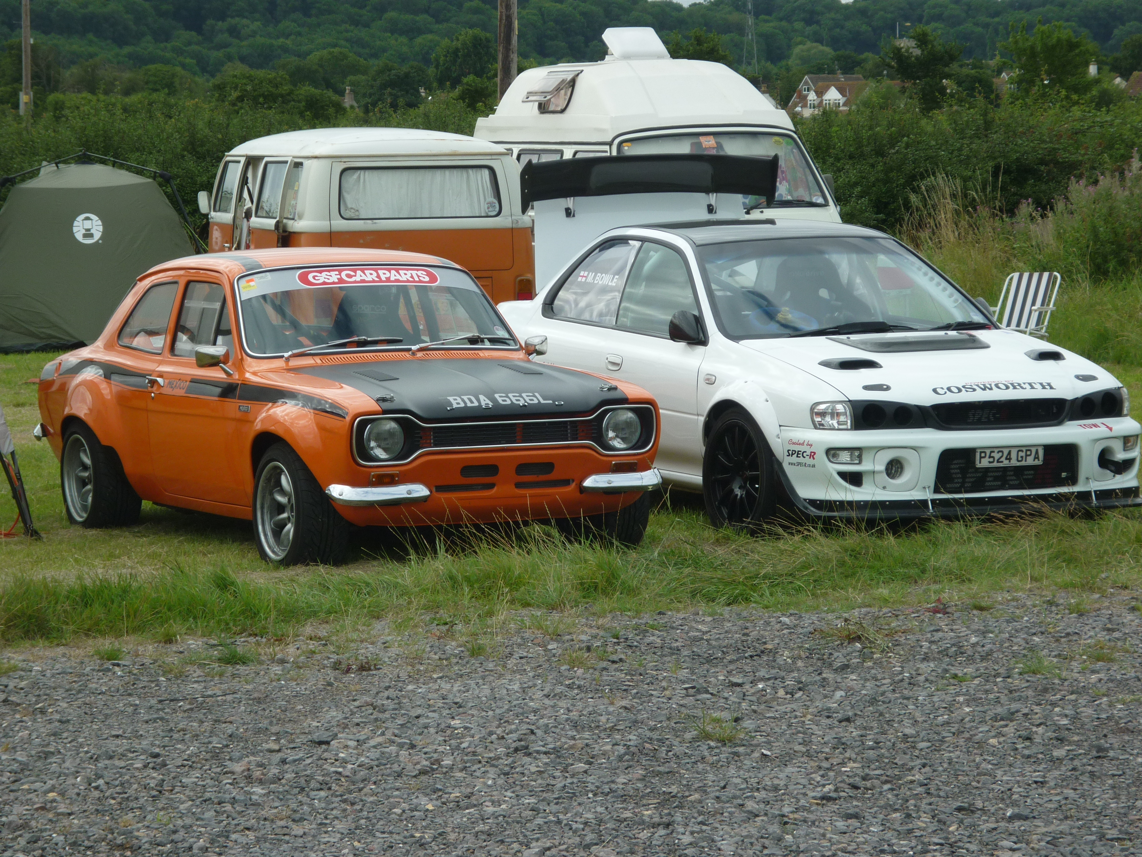 Modified Escort and Impreza