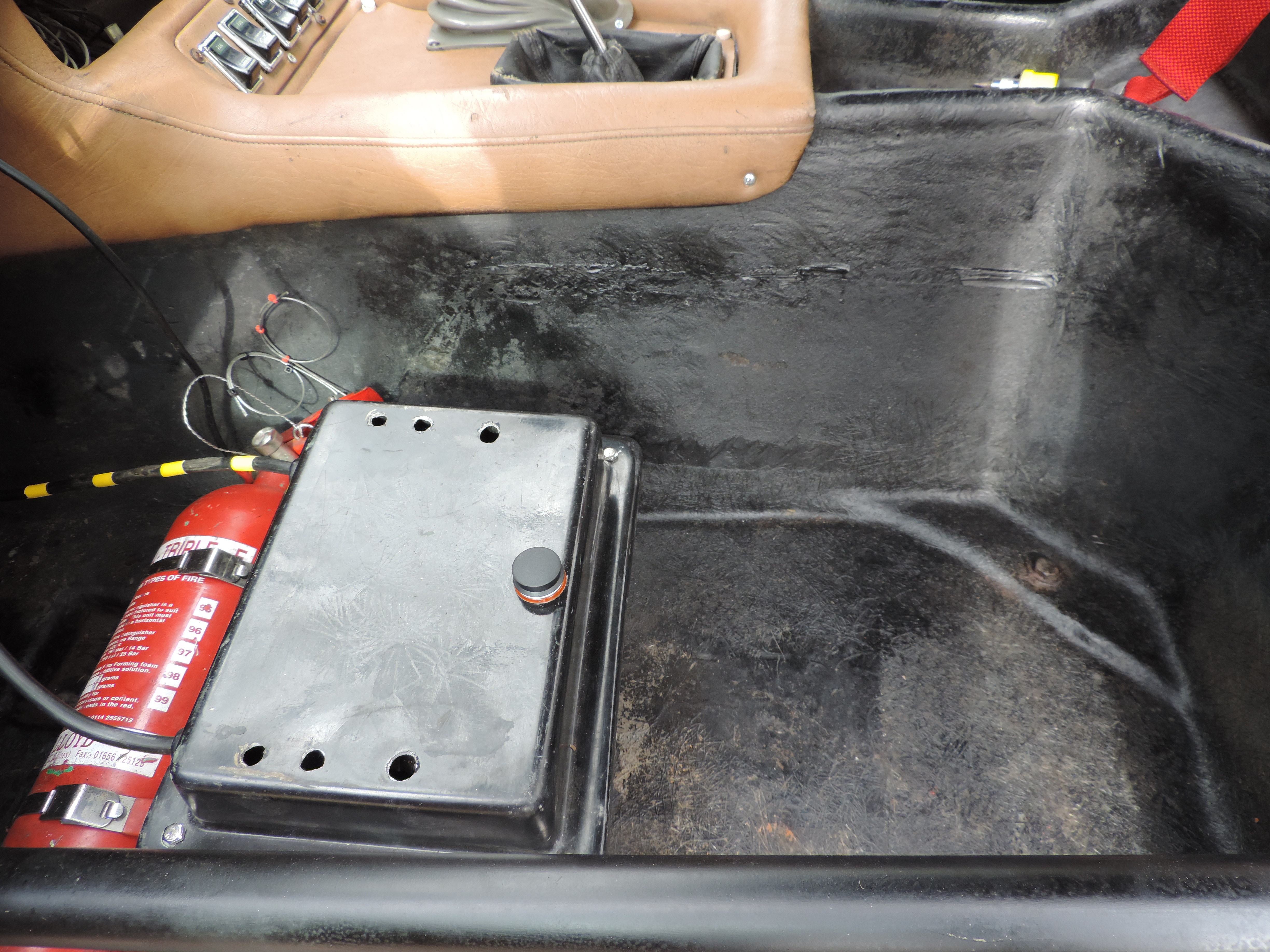 Battery box inside