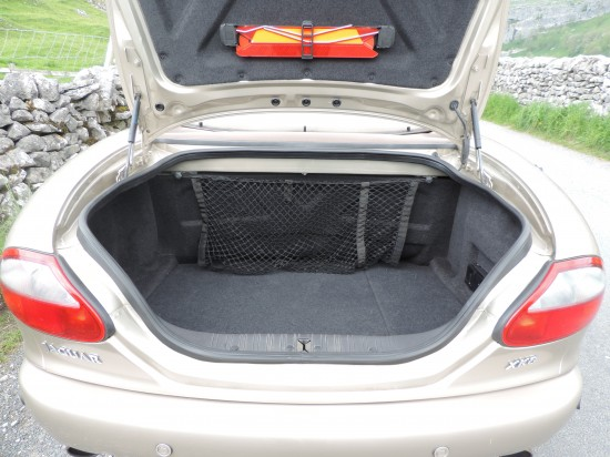 Large boot not compromised by folding roof which tucks down in front