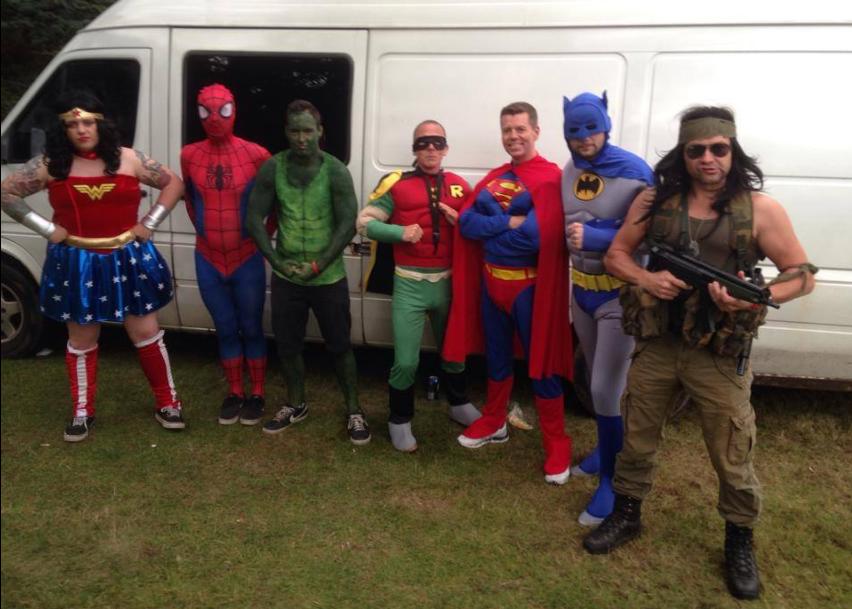 Super Heros Outside