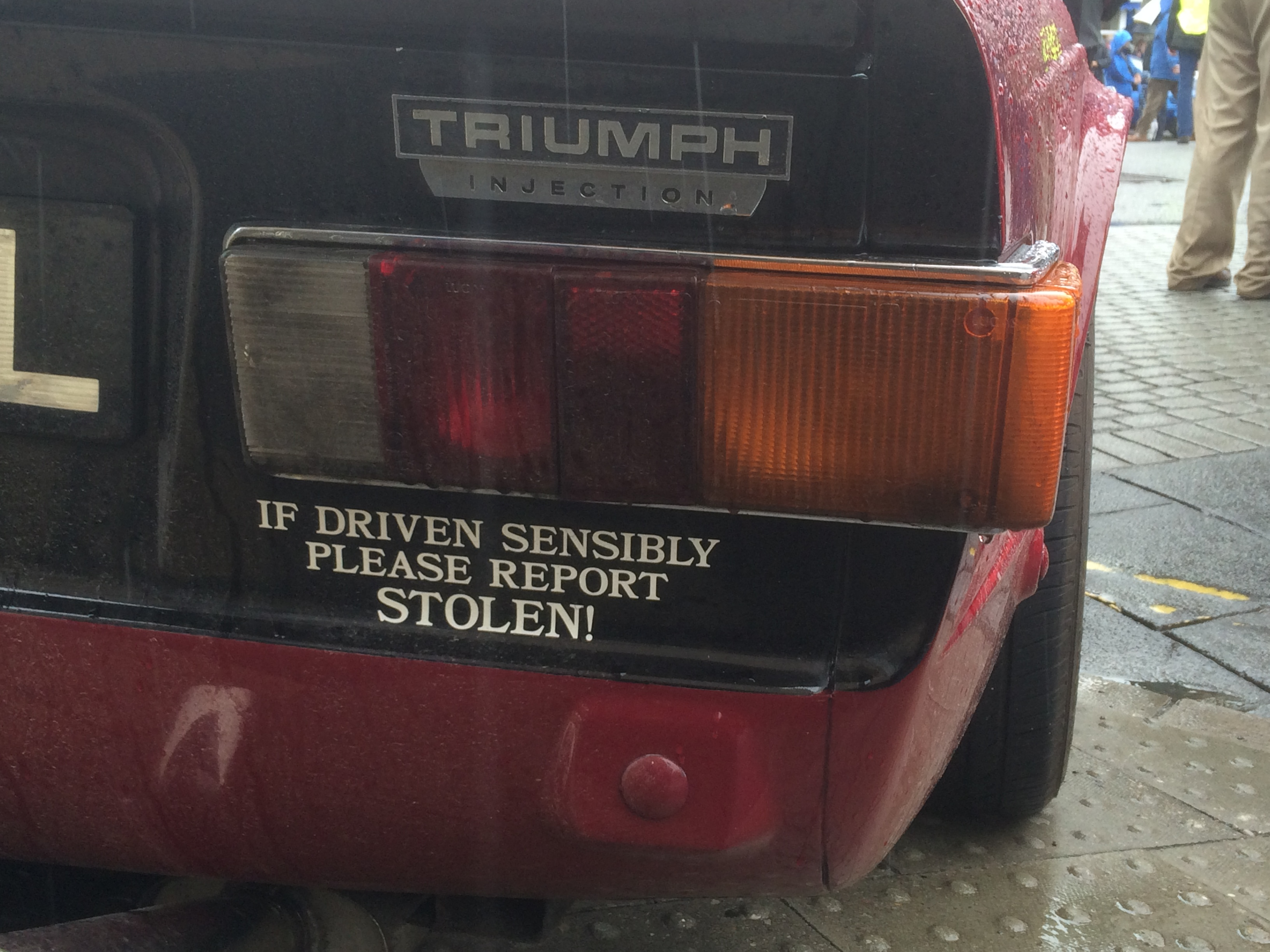Found on the back of a TR6