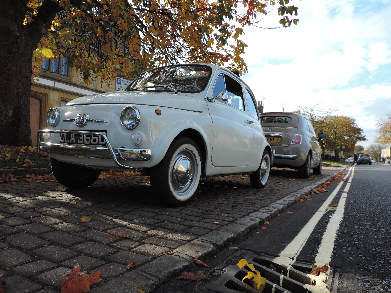 New versus old Fiat 500