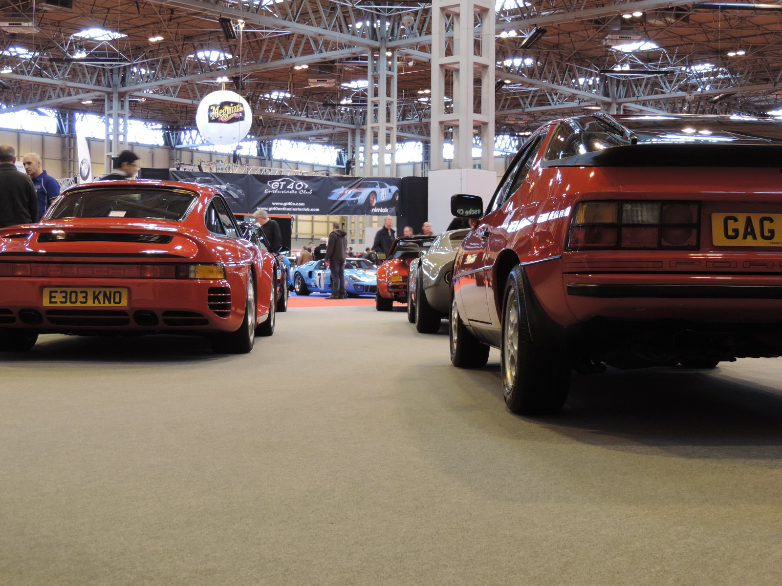 View from Porsche GB Stand